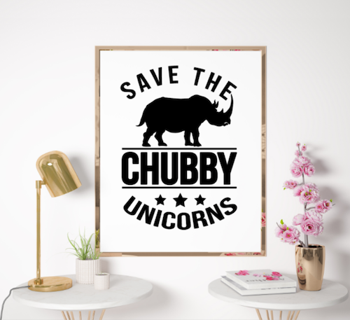 Save the chubby unicorns POSTER