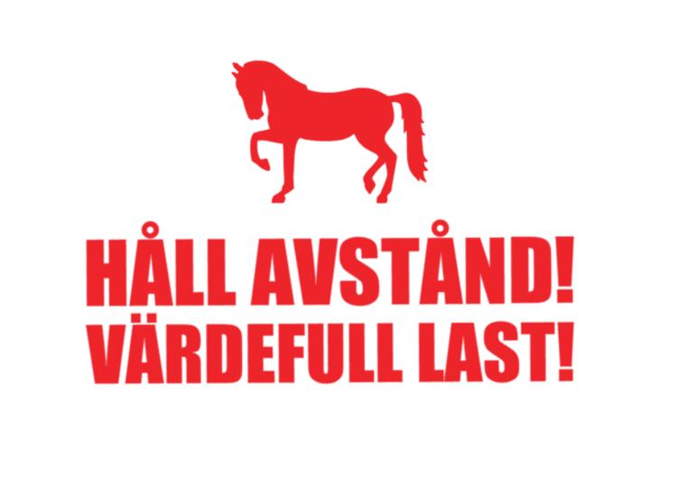 VÄRDEFULL LAST hästsläp