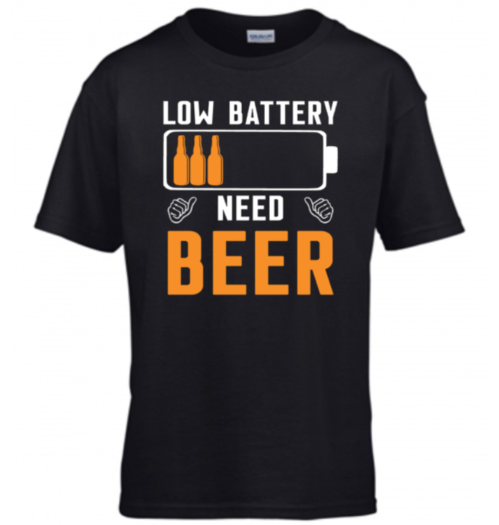 LOW BATTERY NEED BEER