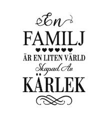En familj väggdekor