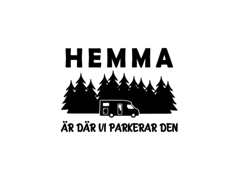 HEMMA ÄR DÄR VI PARKERAR DEN DEKAL