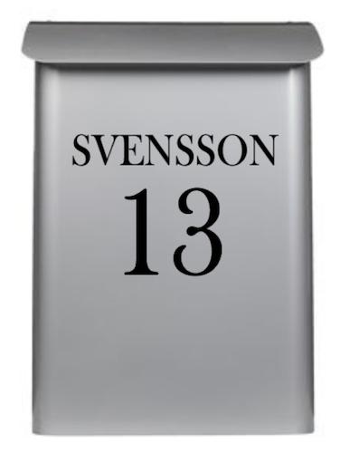 BREVLÅDA - namn gatunummer