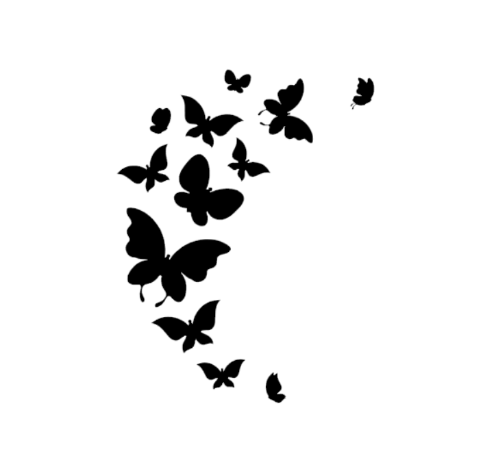 Dekoration fjärilssvärm