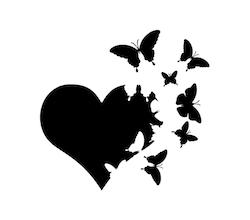 Fjärilar i hjärta