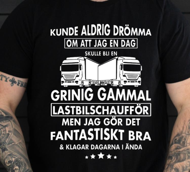 GRINIG GAMMAL LASTBILSCHAUFFÖR