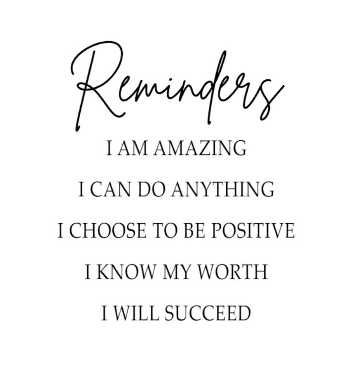 Reminders ♥