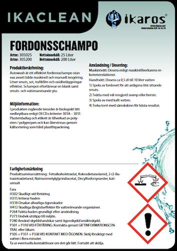 Fordonsschampo - 1L
