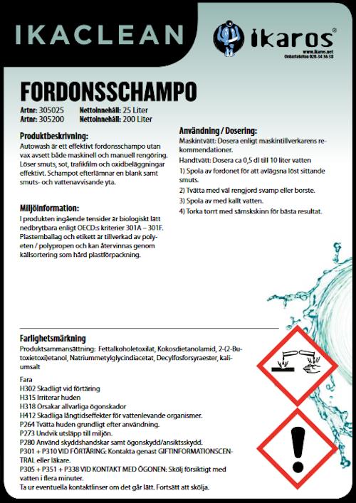 Fordonsschampo - 5L