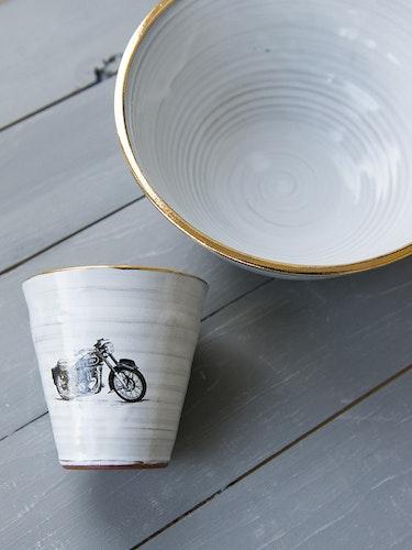 Kaffemugg motorcykel