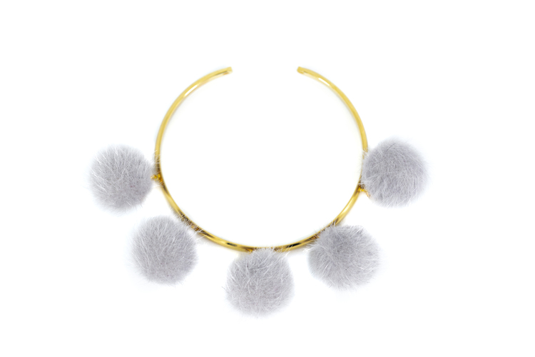 BESTSELLER! Pompom light grey
