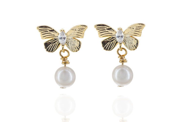 Butterfly zircon pearl