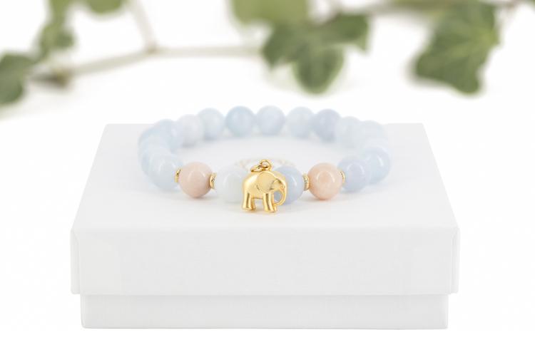 Elephants blue