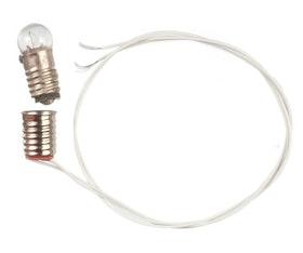Rund lampa på sladd & kontakt