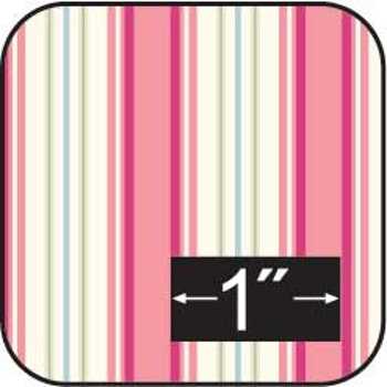 Bomullstyg Cherry Stripe