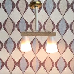 Retro lampa dubbel