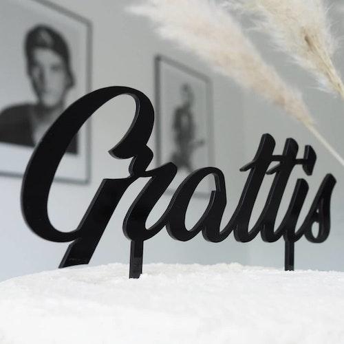 Cake Topper - Grattis