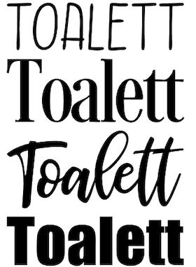 Toalett (4 olika utföranden)