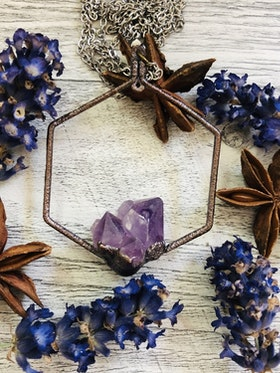 Hexagon amethyst