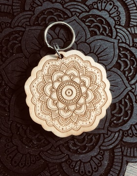 Peaceful Mandala - nyckelring