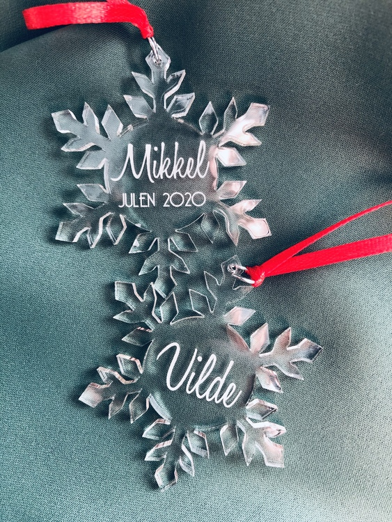 Snöflinga med namn - Plexi