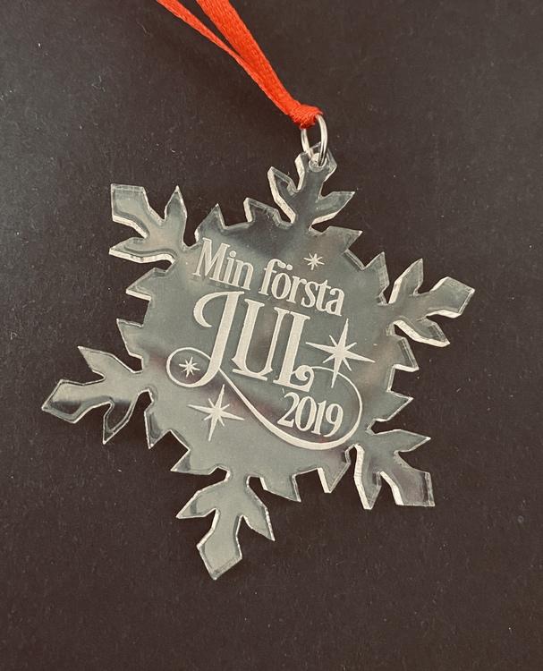 Min första jul - eget årtal - Plexiglas