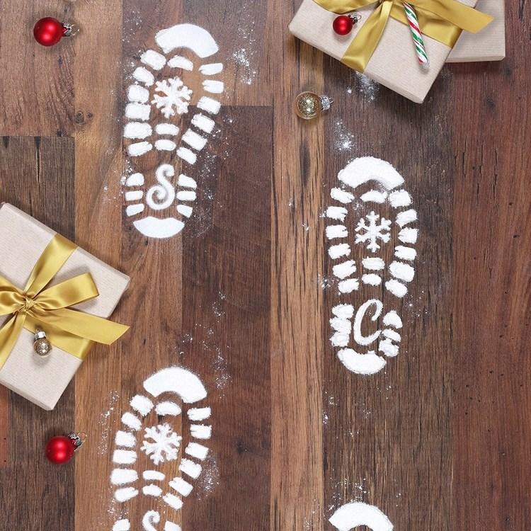 Jultomtens fotsteg - stenciler