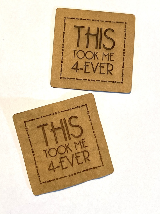 This took me 4-ever - Etikett i veganskt läder
