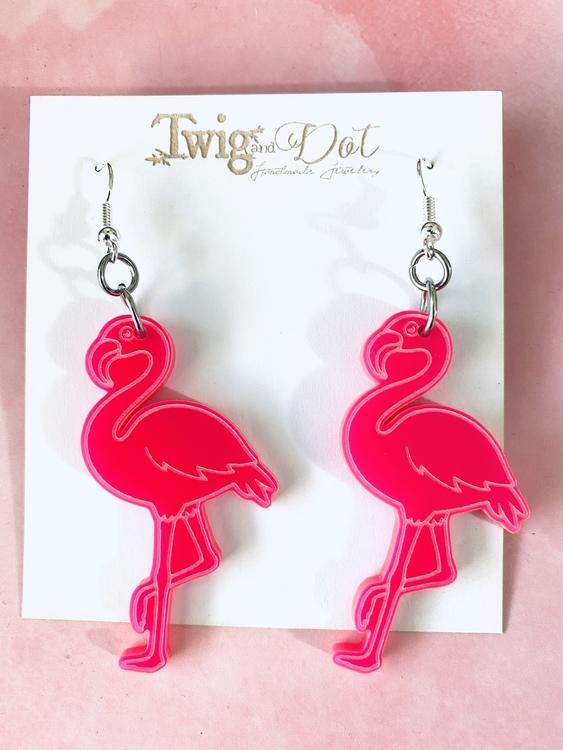 Hot Pink Big Flamingo - krokar