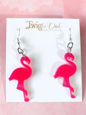 Hot Pink Mini Flamingo - krokar
