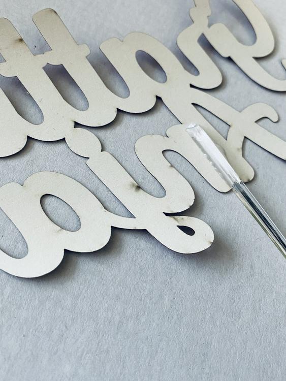 Caketopper, egen text - Glitter
