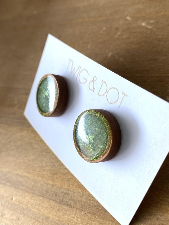 Wood & Glitter - örhängen