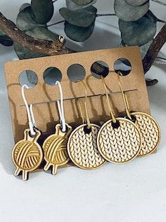 I heart knitting - 5 stickmarkörer