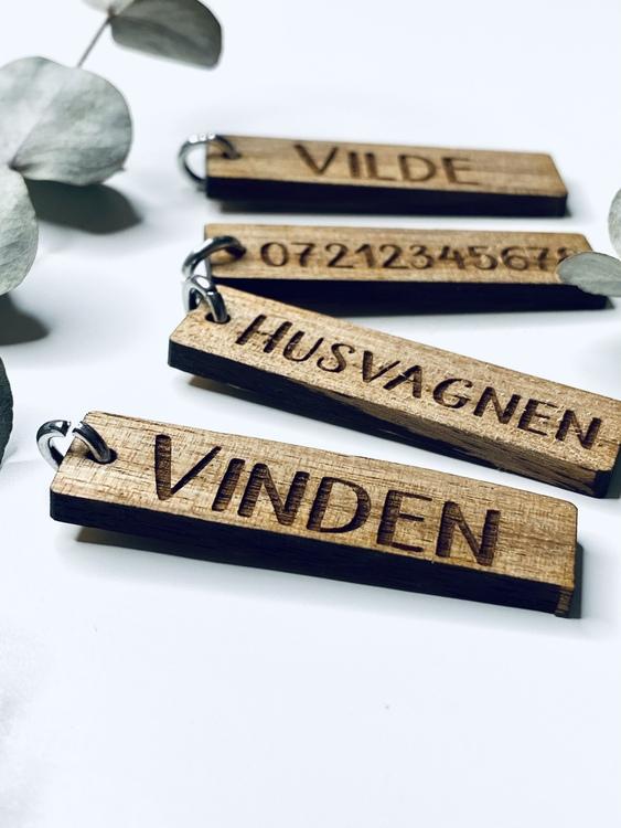 Träberlock med namn
