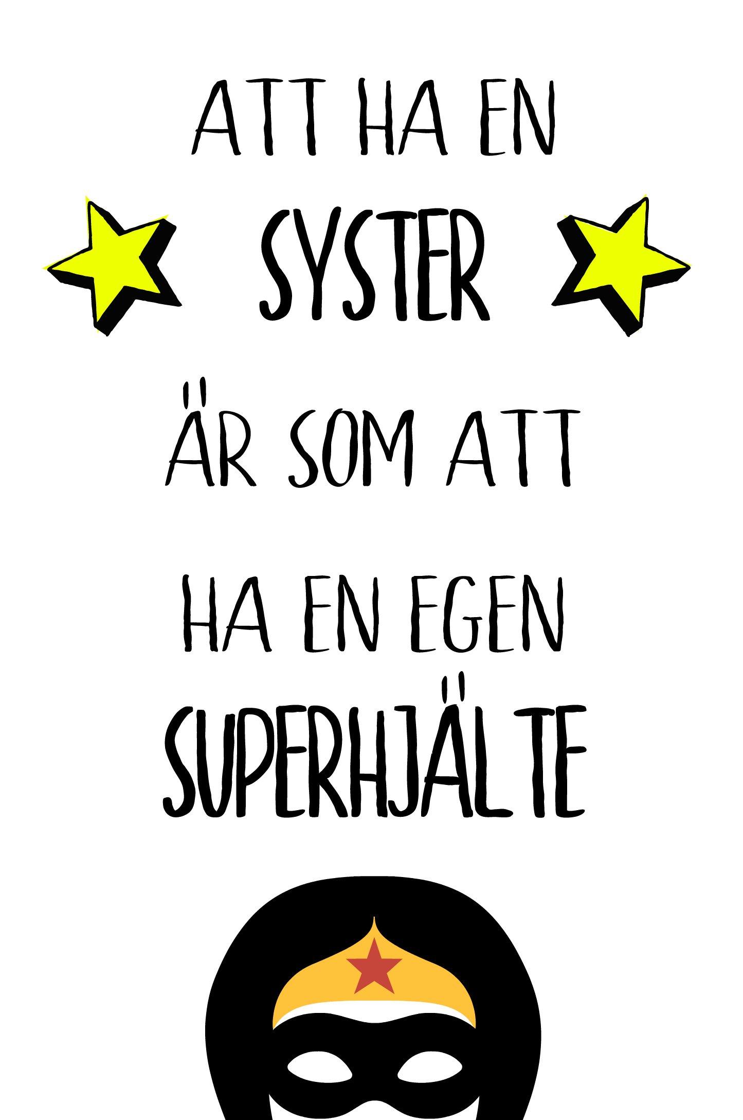 Att ha en bror/syster