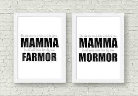 Den enda saken som är.. Mamma - Mormor/Farmor - A4