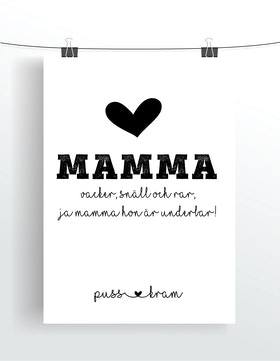 Mamma vacker, snäll och rar