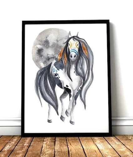 Moon Horse white