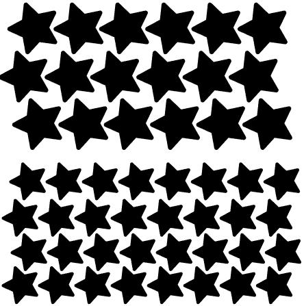 Stjärnor två storlekar