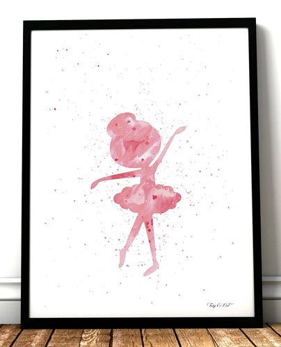 Pink Ballerina splatter