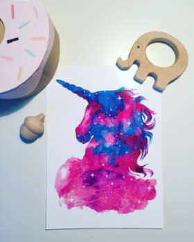 Magic Unicorn Starry Night