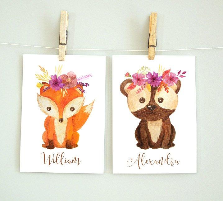 Fox and Bear - personligt namn