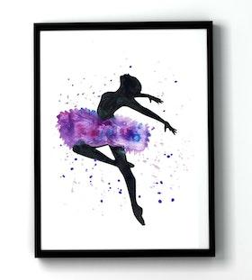 Ballerina in air