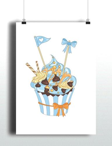 Caramel Chocolate Cupcake