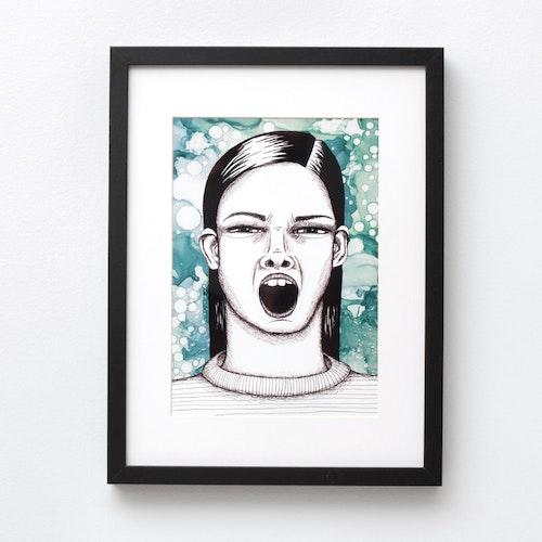 "2:A SORTERING Ugly-pretty ""skrik/gäsp"" (poster/print A4)"