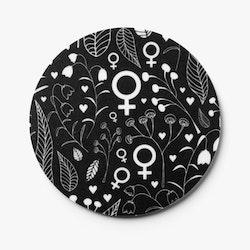 Glasunderlägg / coasters / svart / 1 st