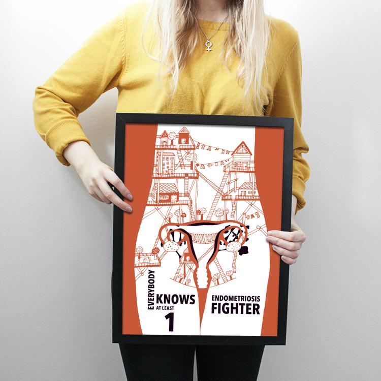 Endometrios print/poster (Poster A4, A3)