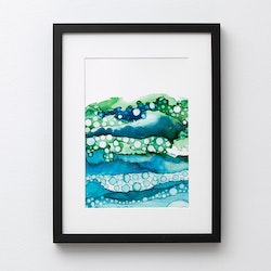 Abstract ocean (poster/print A4)