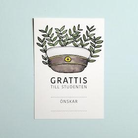 "Grattiskort ""student"" (gröna blad)"