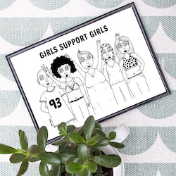 Girls support girls, poster/print A4