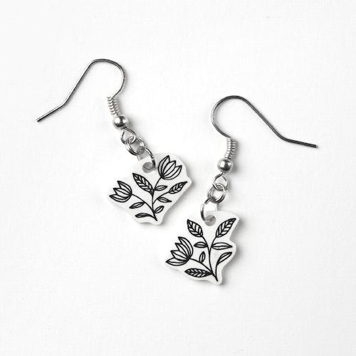 Blomster (handgjorda, unika örhängen)